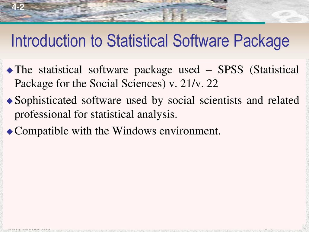 Introduction to Statistical Software Package