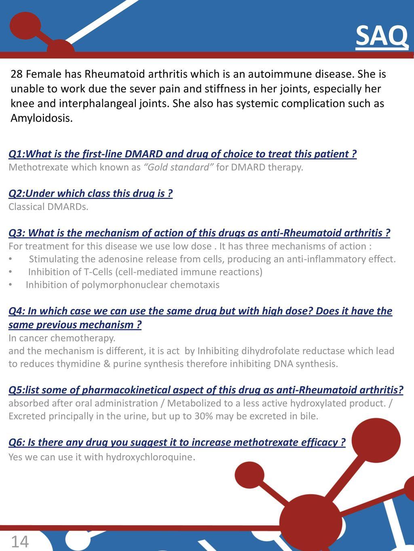Disease Modifying Anti-rheumatic drugs - ppt download