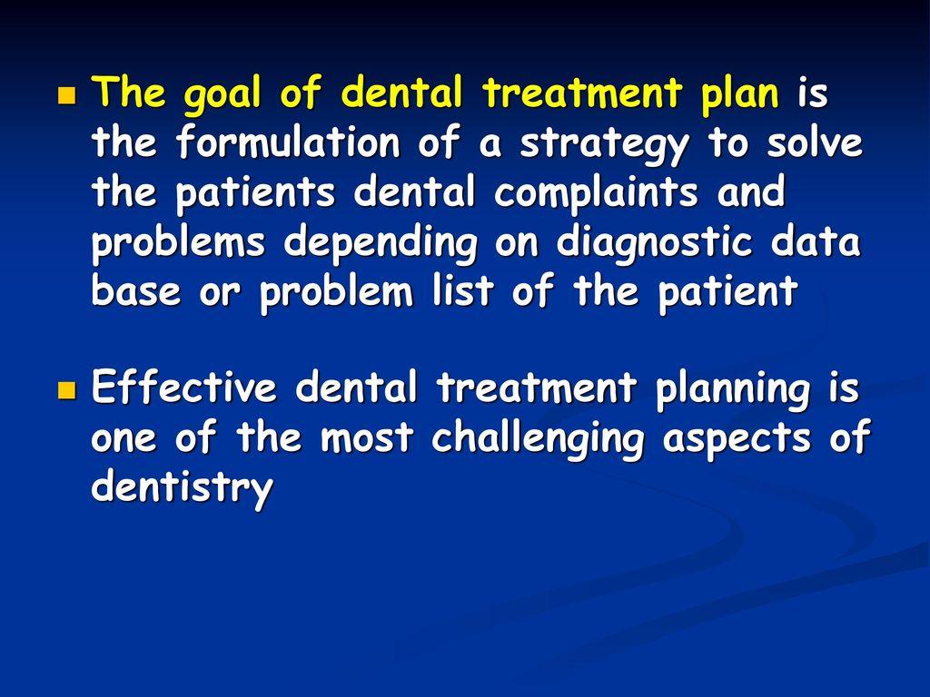 Dental treatment planning - ppt download