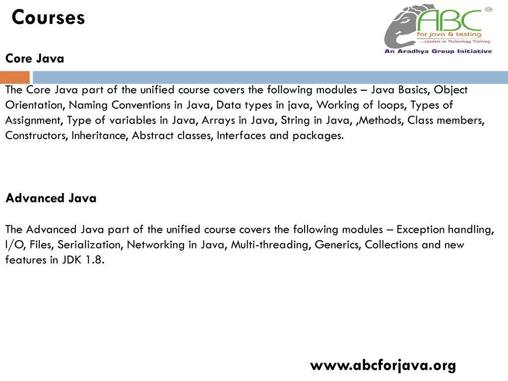 Java Courses in Vijaynagar - ppt download