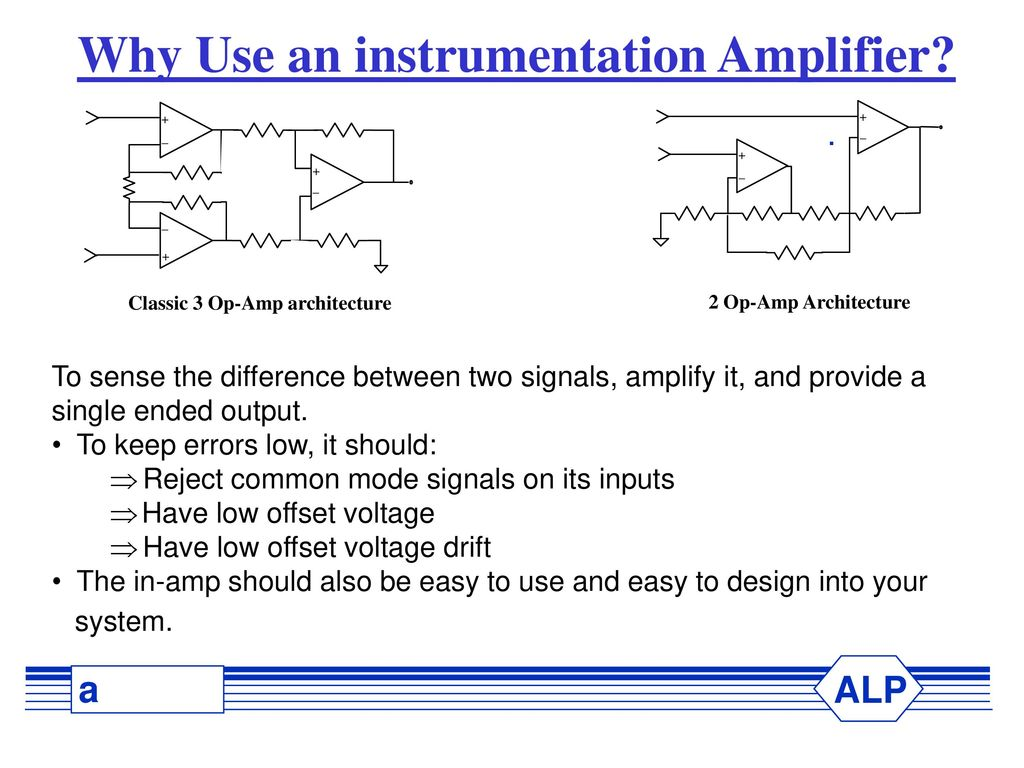 Why Use An Instrumentation Amplifier Ppt Download Singlesupply