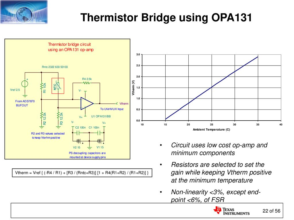 Sensors And The Analog Interface Ppt Download Circuit Diagram Thermistor Bridge Using Opa131