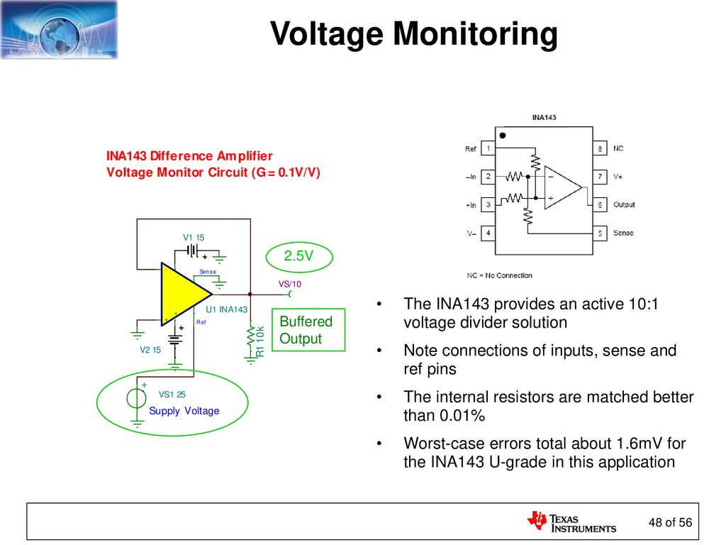 Sensors And The Analog Interface Ppt Download Voltage Divider Network To Solve For Any Varaible In 48 Monitoring