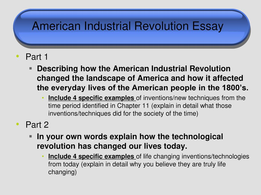 Example Of An Essay Paper American Industrial Revolution Essay Examples Of Good Essays In English also Catcher In The Rye Essay Thesis Quiet  Seated  Ppt Download Ap English Essays