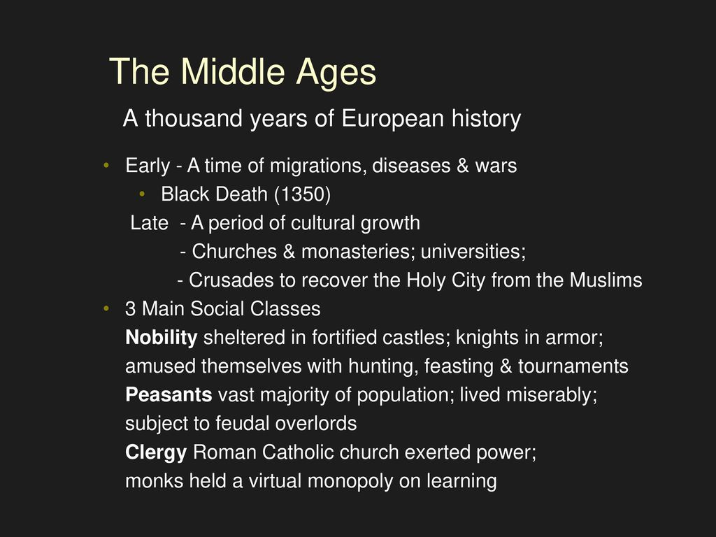 the dark ages in europe music appreciation