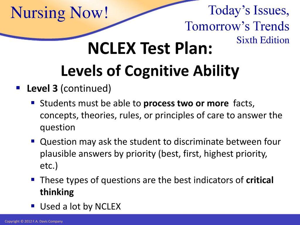NCLEX Test Plan Joseph T  Catalano  - ppt download