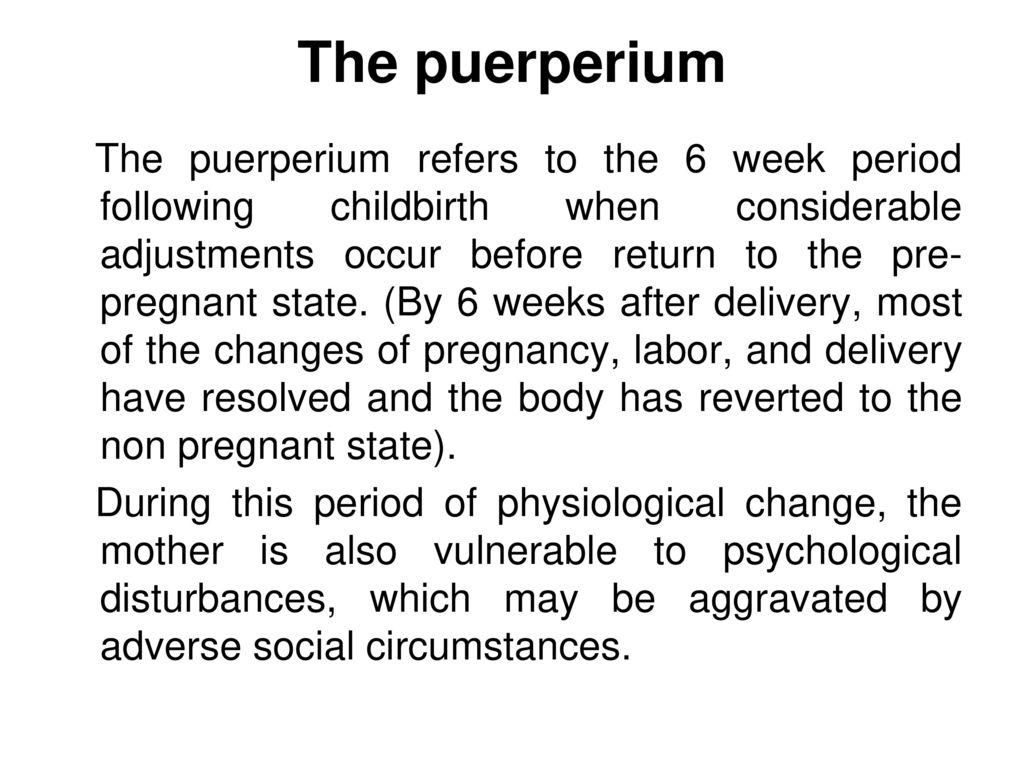 The puerperium. - ppt download