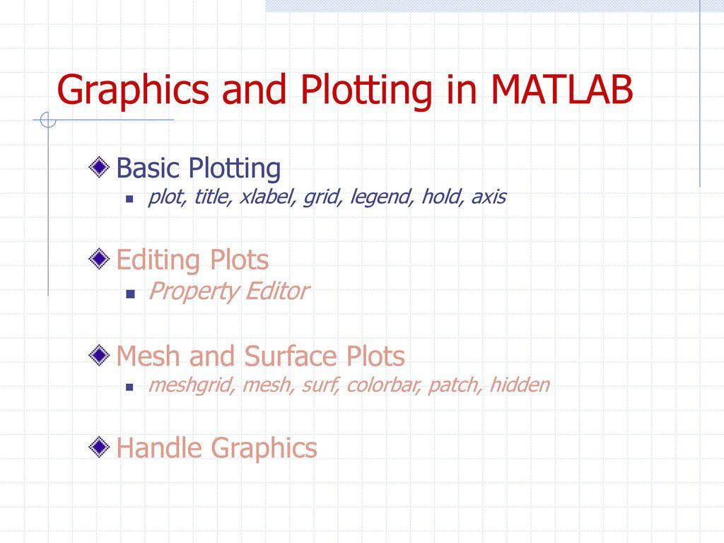 Short MATLAB Tutorial  - ppt download