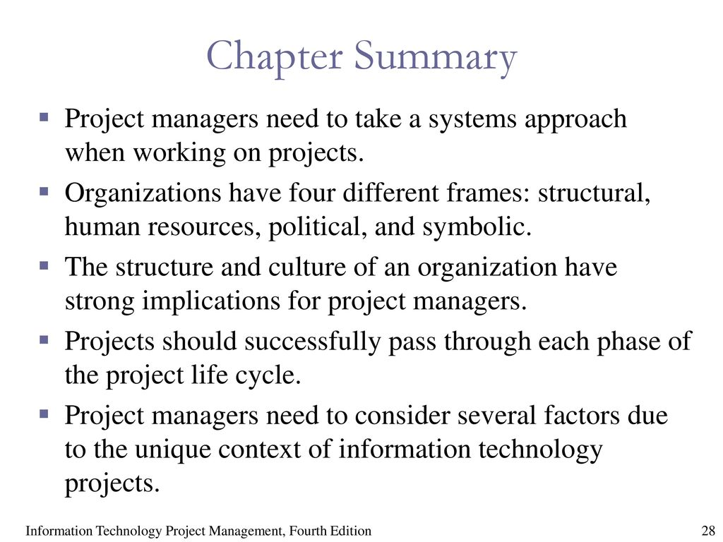 Chapter 2: The Project Management and Information Technology Context ...