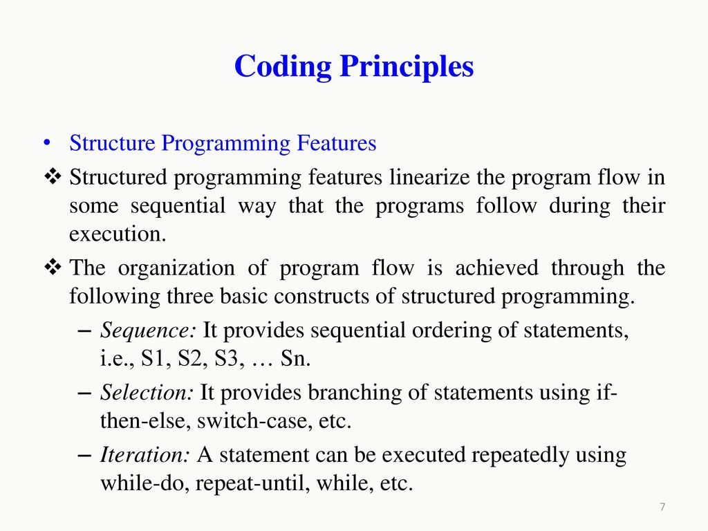 Structural Programming: Basic Principles 23
