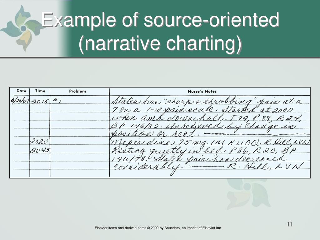 11 Example Of Source Oriented Narrative Charting