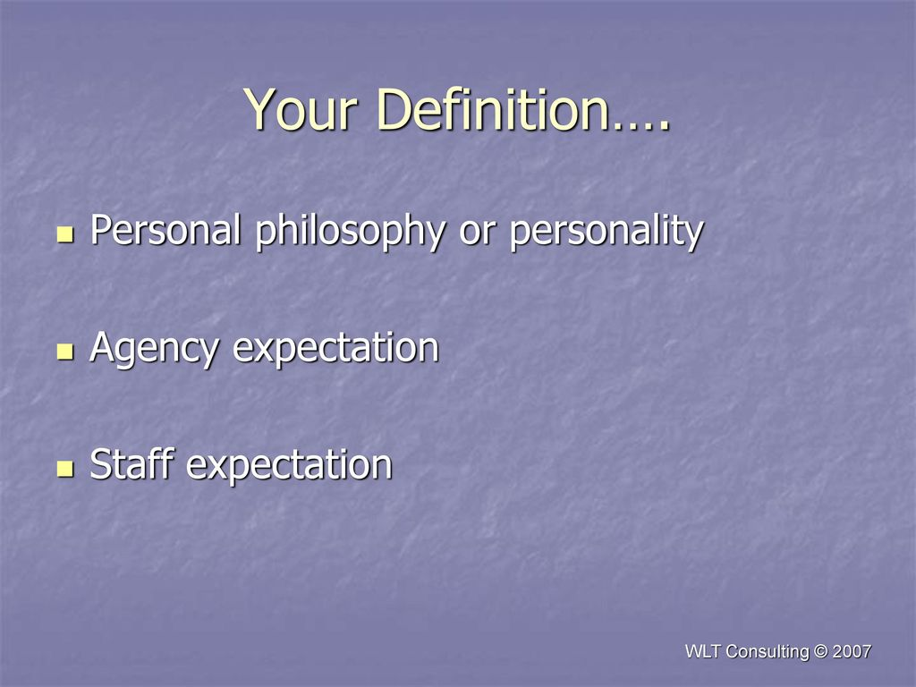 personal philosophy definition