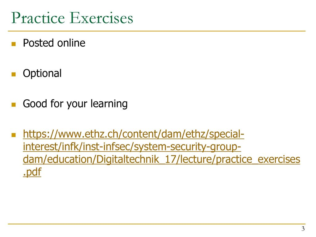 Design Of Digital Circuits Lecture 18 Out Order Execution Ppt Online 3 Practice Exercises Posted Optional Good For Your Learning