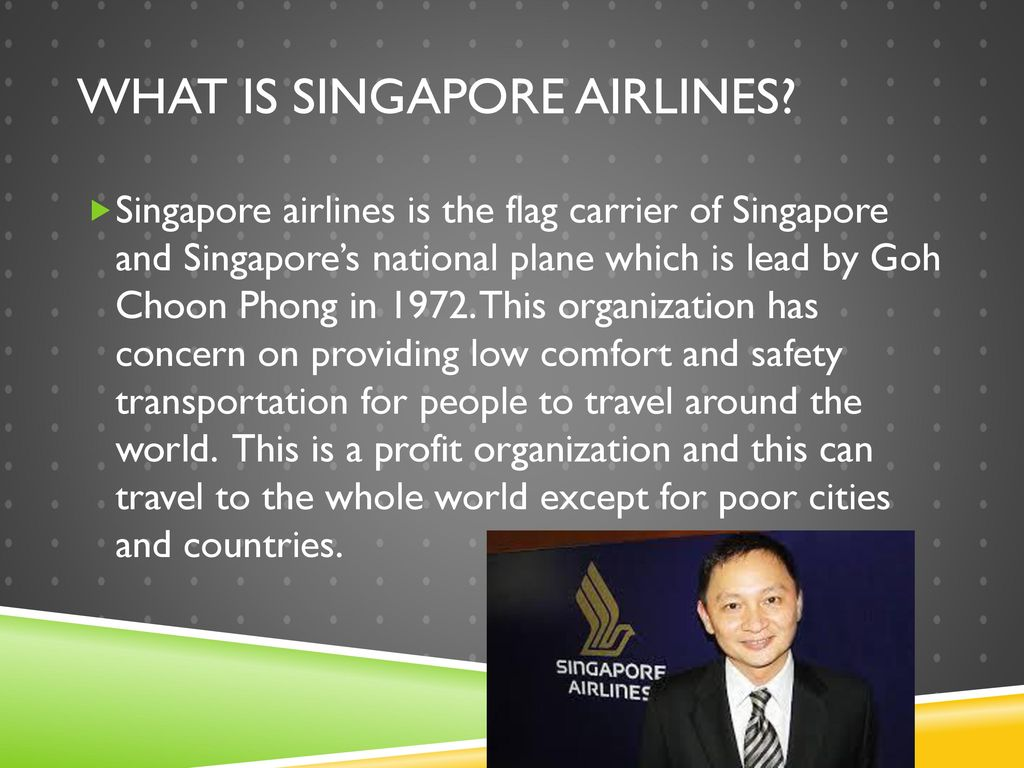 singapore airlines organizational structure