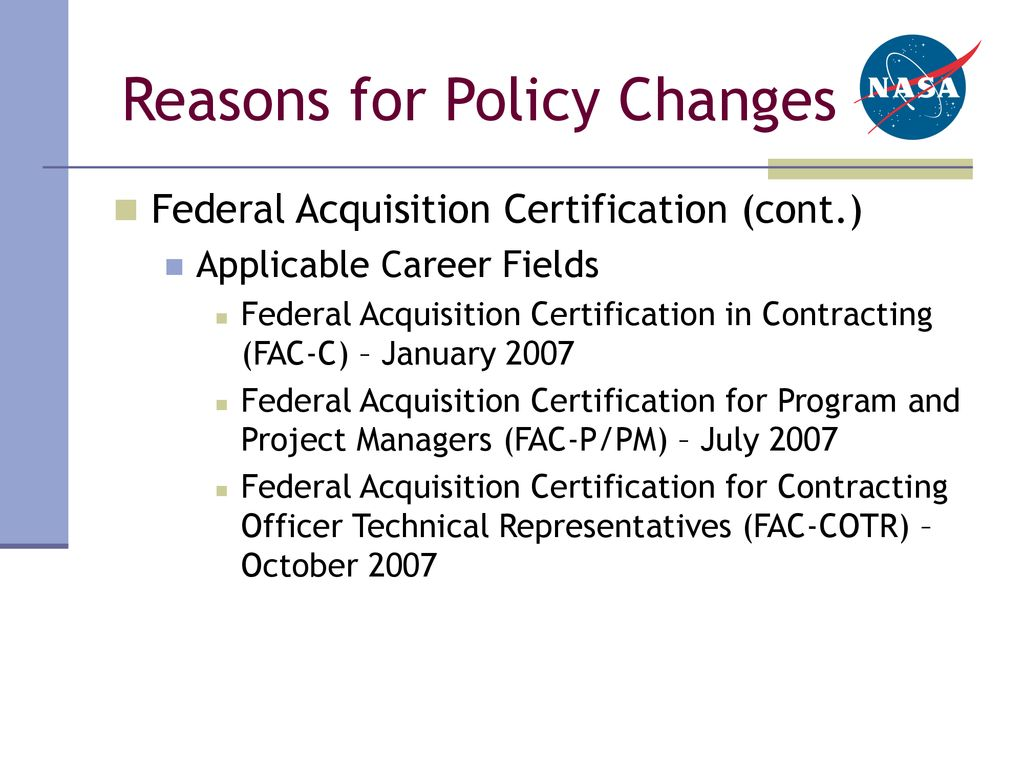 Nasa Procurement Career Development And Training Policy Ppt Download