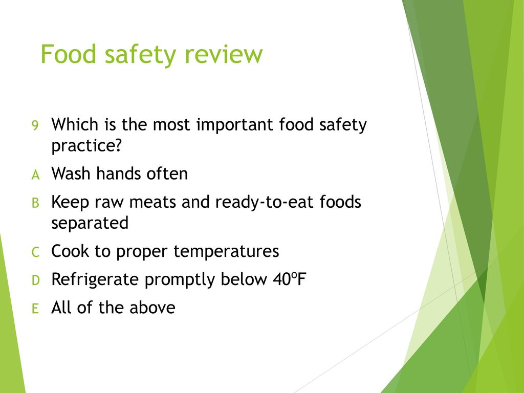 Food Safety Quiz Developed by Dr - ppt download