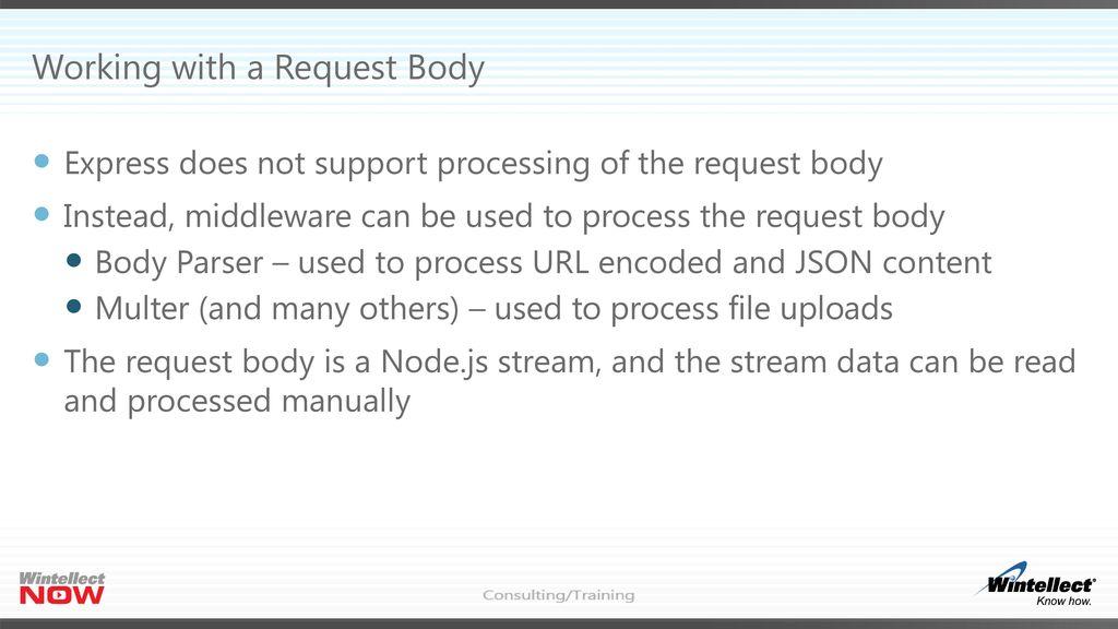 Node js Express Web Applications - ppt download