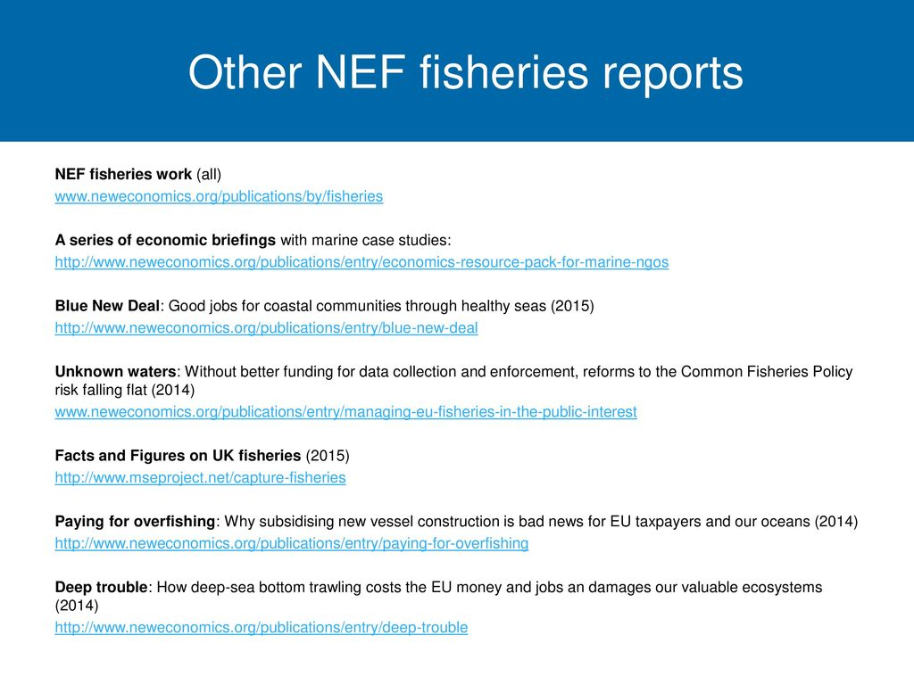 Other NEF fisheries reports