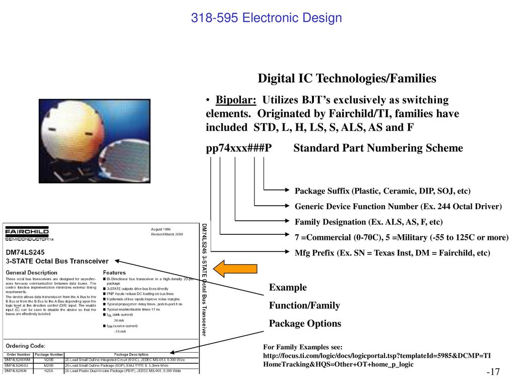 Digital Design Jeff Kautzer Univ Wis Milw Ppt Download Word Doc File Of 7segment Driver Ic And Inverter Wiring Diagram Technologies Families