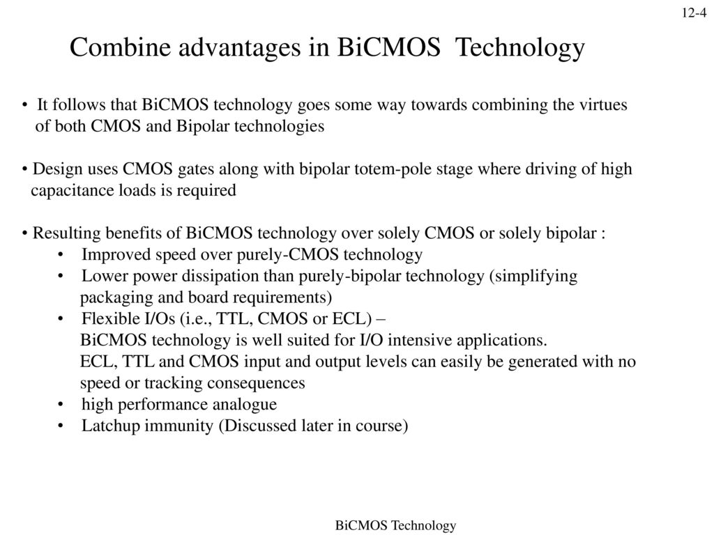 Bicmos Technology Combines Bipolar And Cmos Transistors In A Single Design Principles For Lowvoltage Lowpower Analog Integrated Circuits 4 Combine Advantages