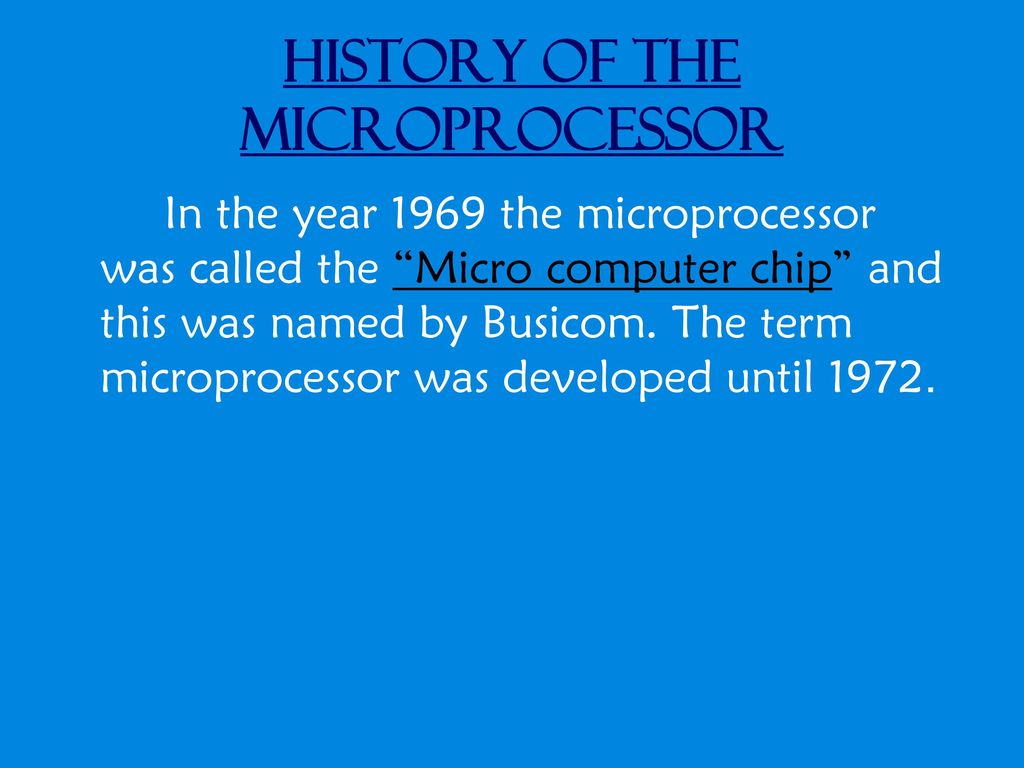 History Of The Microprocessor Ppt Download 1974 Tms1000 Singlechip Microcomputer Released