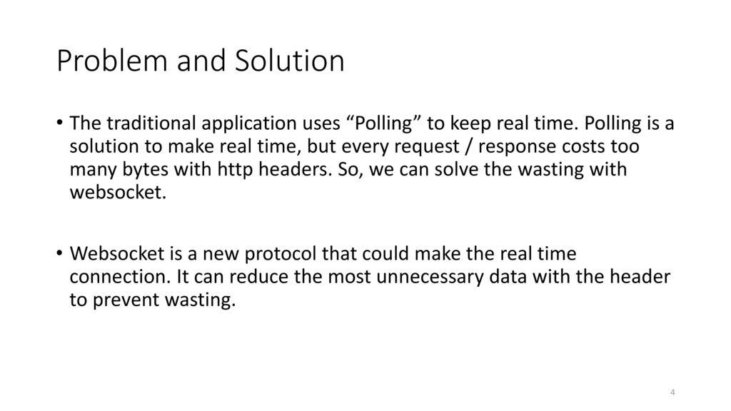 Websocket Application - ppt download