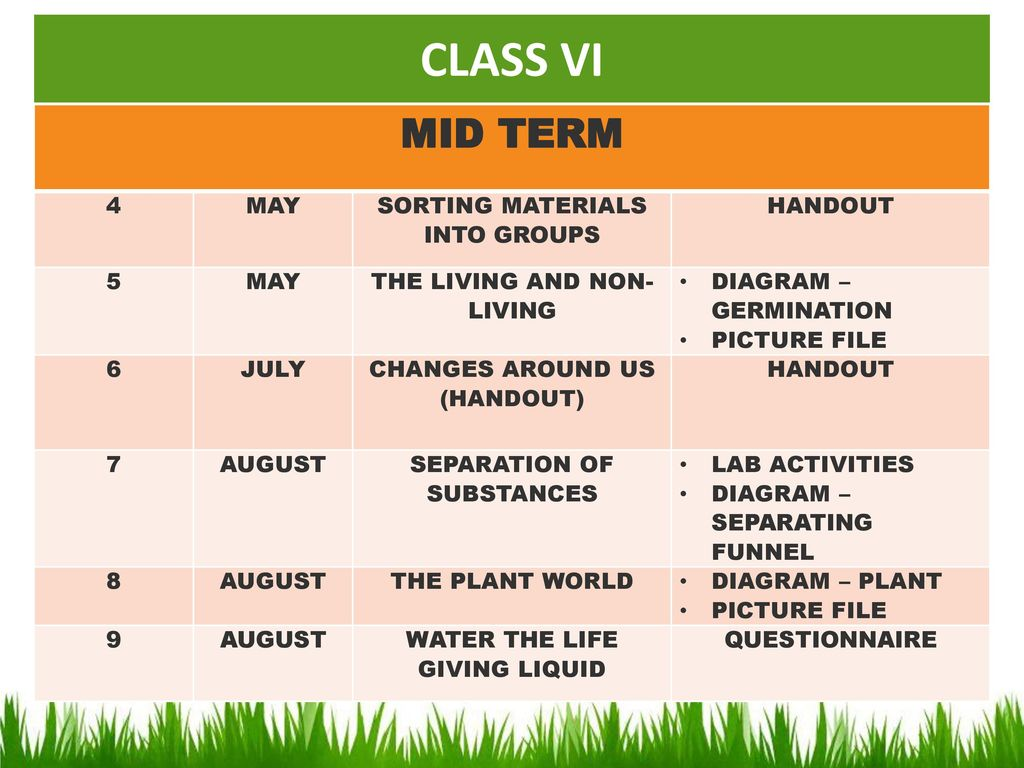 A Warm Welcome To The Orientation Programme Of Class Vi Ppt Download Diagram Germination 6