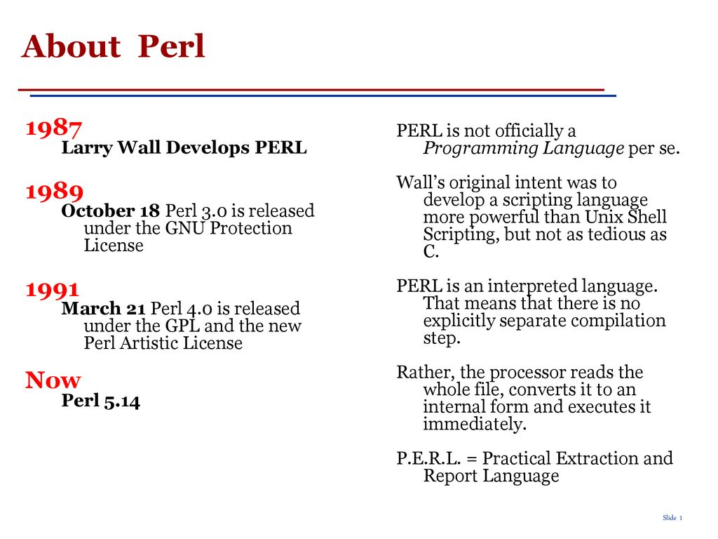 short perl tutorial instructor: rada mihalcea - ppt download
