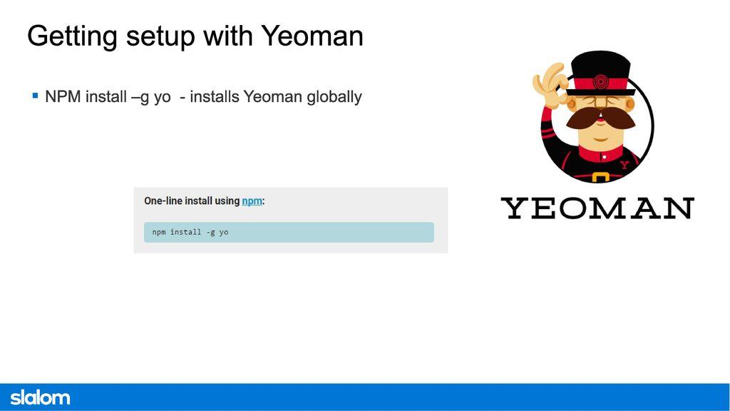 Modern SharePoint Development Workflow using Node, Bower, Yeoman and