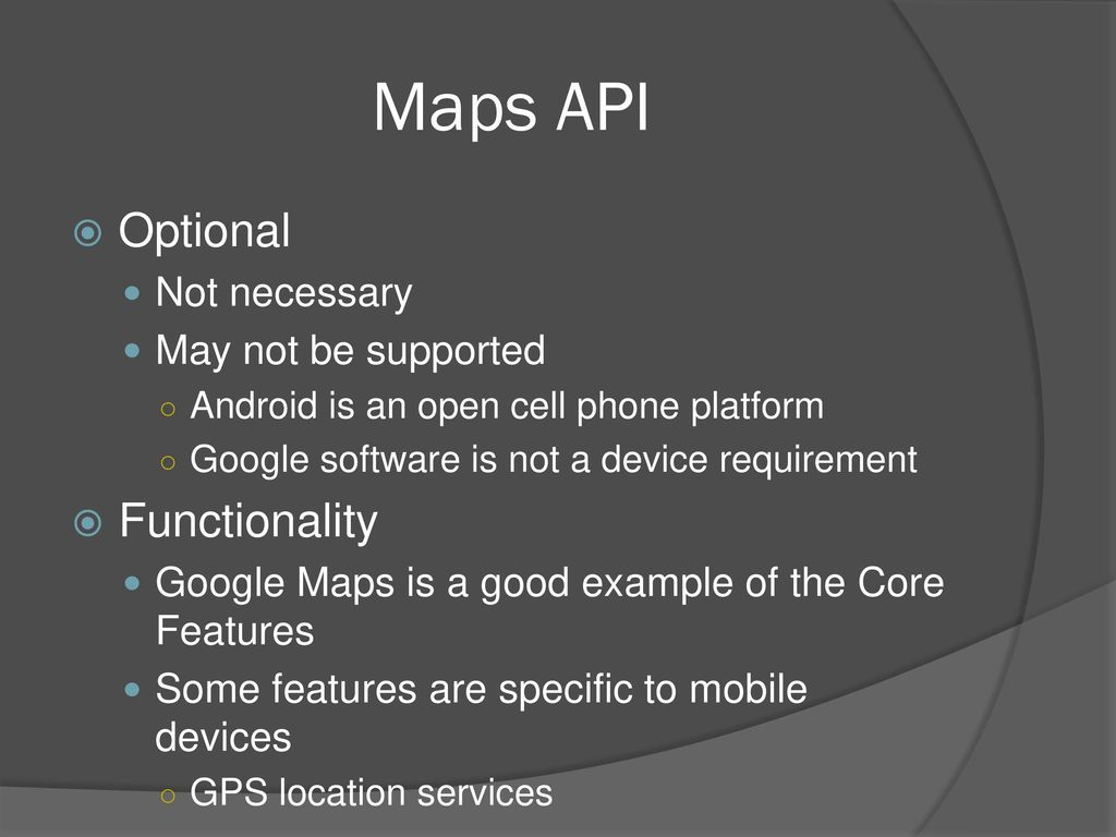 AnDroid GoogleMaps API - ppt download