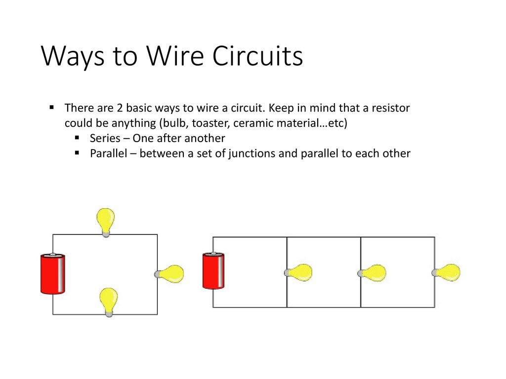 Circuits Ap Physics Ppt Download Square Circuit Equivalent Resistance Of Resistor Ways To Wire There Are 2 Basic A Keep In