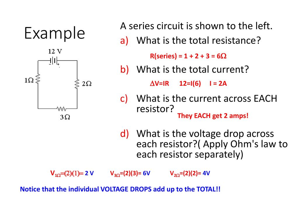 Circuits Ap Physics Ppt Download Total Resistance In A Series Circuit Example Is Shown To The Left