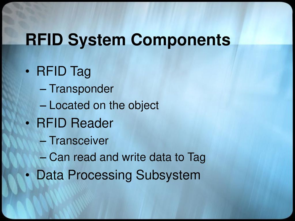 RFID Systems and Security and Privacy Implications - ppt