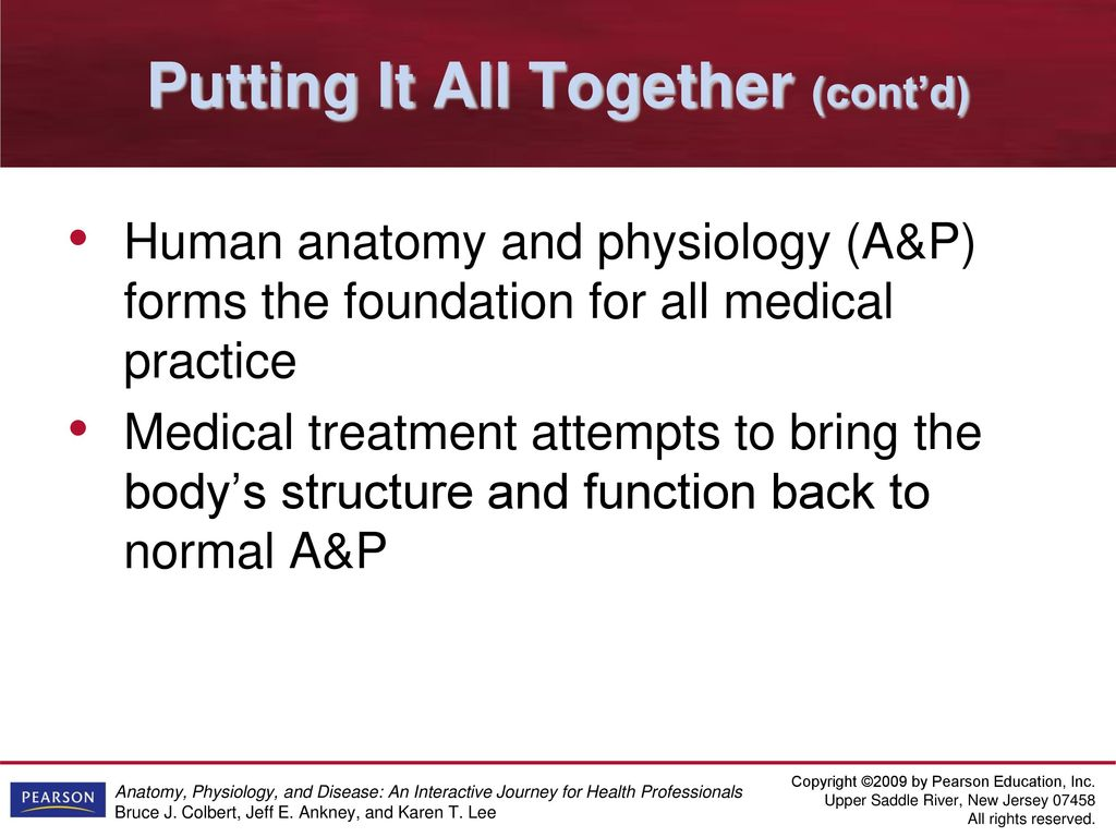 Anatomy, Physiology, & Disease: Learning the Language - ppt