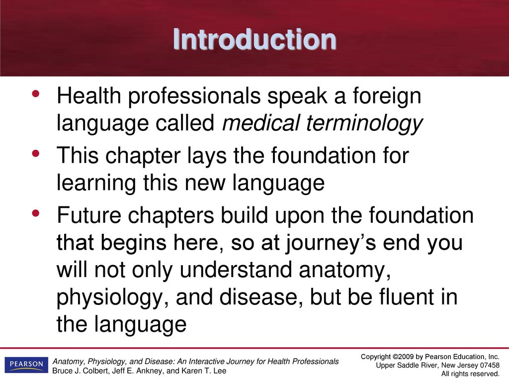 Anatomy, Physiology, & Disease: Learning the Language - ppt download