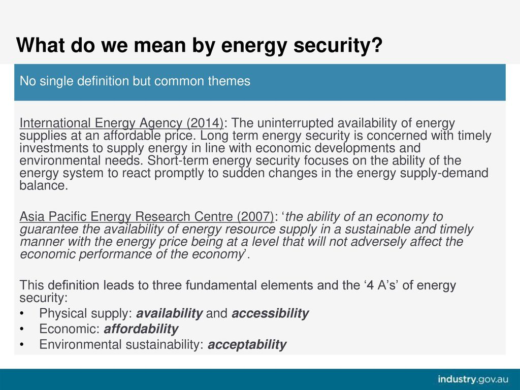 Risk Management approaches to Energy Security - ppt download