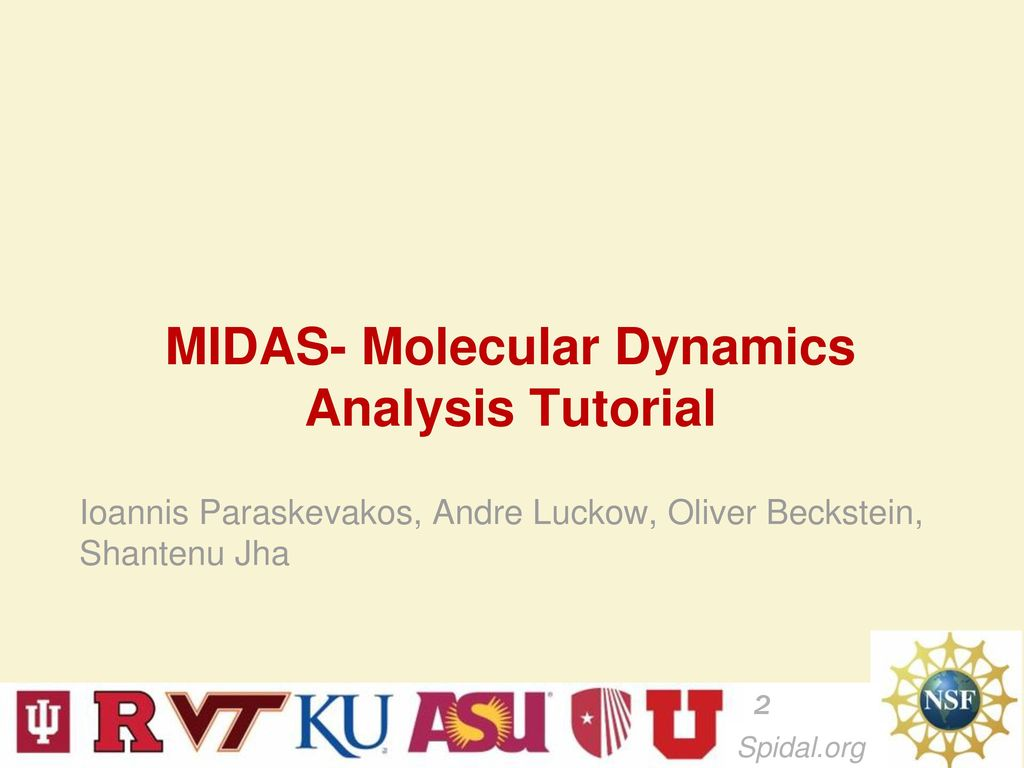 MIDAS- Molecular Dynamics Analysis Tutorial February ppt download