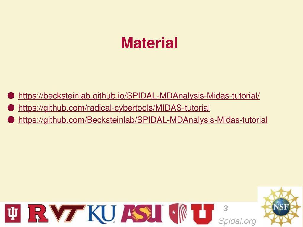 MIDAS- Molecular Dynamics Analysis Tutorial February ppt