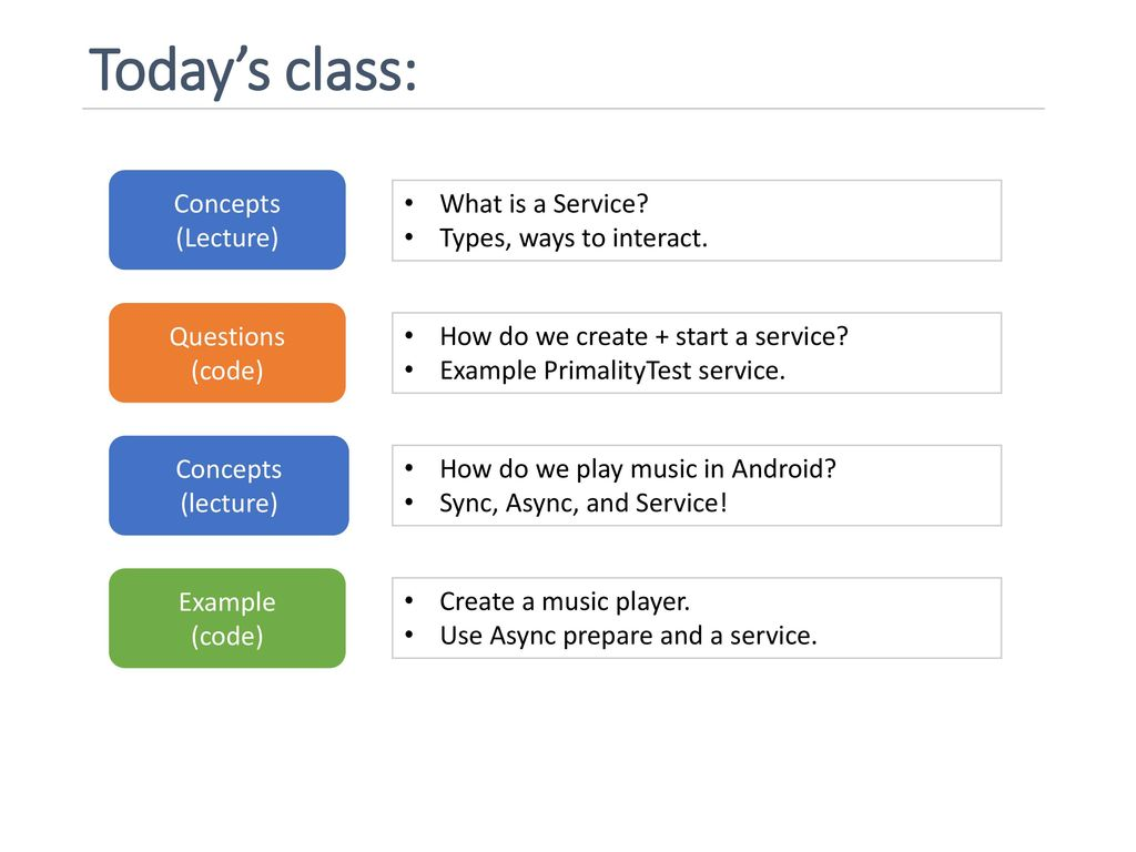 Lecture 7: Service Topics: Services, Playing Media  - ppt