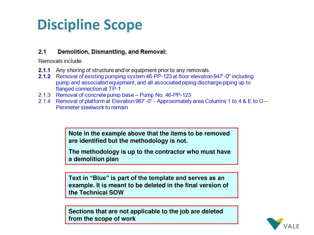 Technical Scope Of Work Ppt Download
