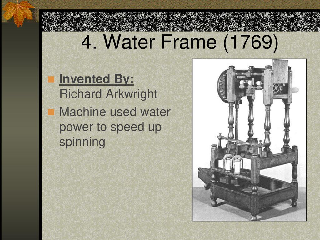 Who Invented Water Frame - Page 5 - Frame Design & Reviews ✓