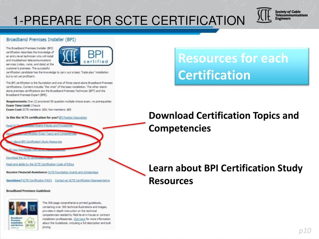 1-Prepare for SCTE Certification