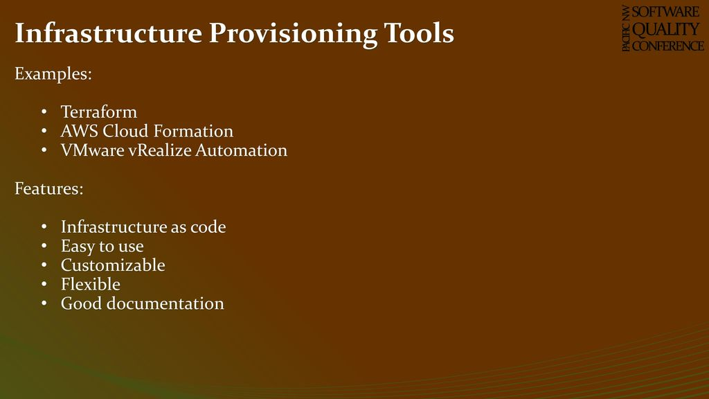 Infrastructure Orchestration to Optimize Testing - ppt download