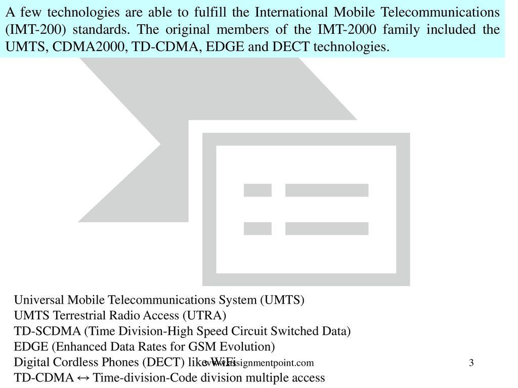 3G System for Global Roaming - ppt download