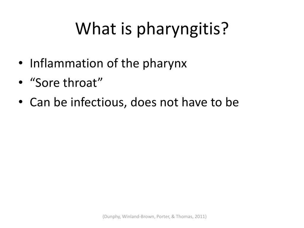 What is pharyngitis