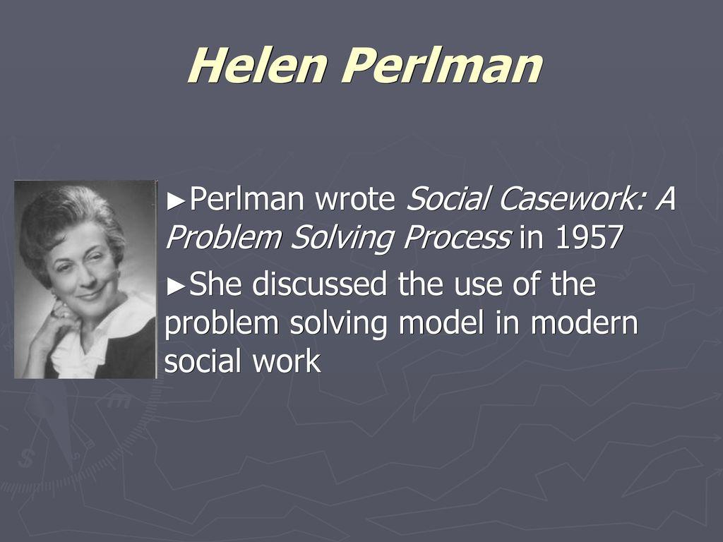 helen perlman problem solving model