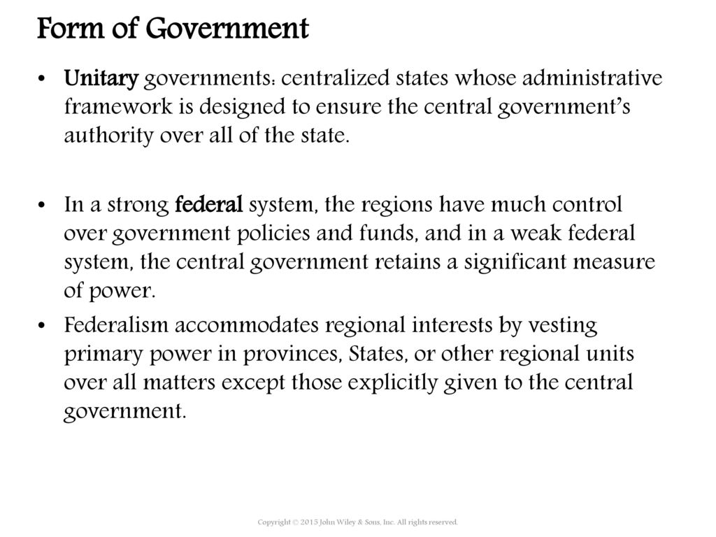 Regional units of central government