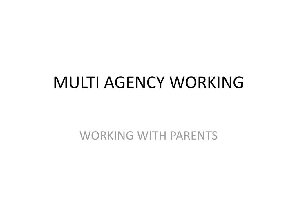 multi agency working