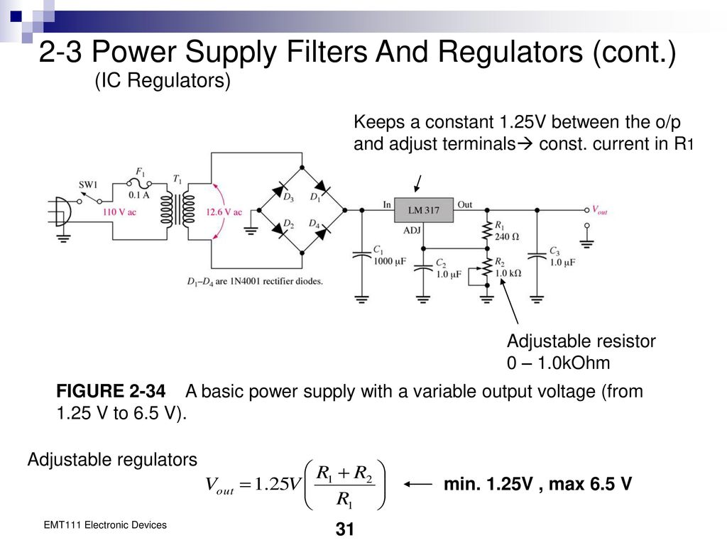 Chapter 2 Diode Applications Ppt Download Levels 78xx Series Ics May Be Employed With The Above Explained Power 3 Supply Filters And Regulators Cont Ic