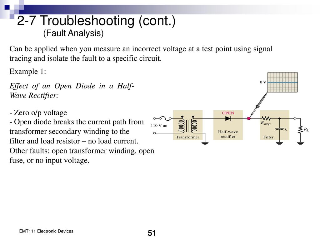 Chapter 2 Diode Applications Ppt Download Transformer Software For Analysis And Rectifier Circuit Fault